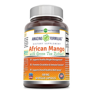 Amazing Formulas African Mango with Green Tea Extract 500 Mg 60 Veggie Capsules