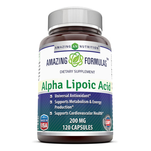 Image of Amazing Formulas Alpha Lipoic Acid 200 Mg 120 Capsules - Amazing Nutrition