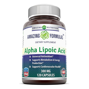Amazing Formulas Alpha Lipoic Acid 300 Mg 120 Capsules - Amazing Nutrition