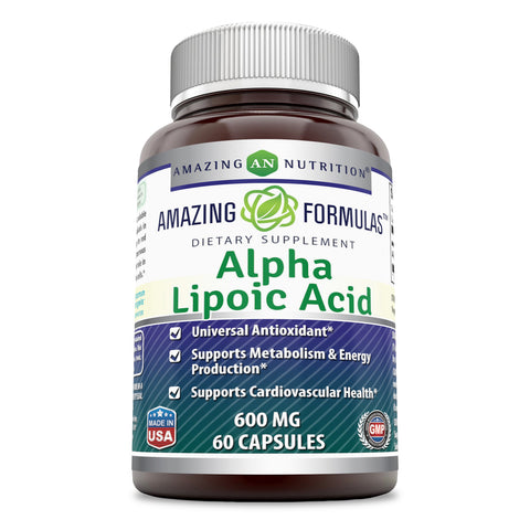 Image of Amazing Formulas Alpha Lipoic Acid 600 Mg 60 Capsules