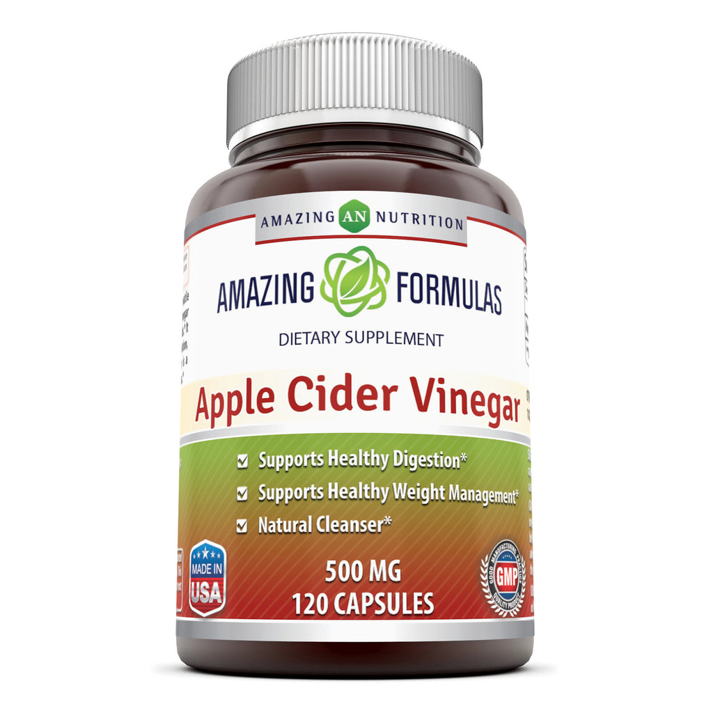 Amazing Formulas Apple Cider Vinegar 500 Mg 120 Capsules