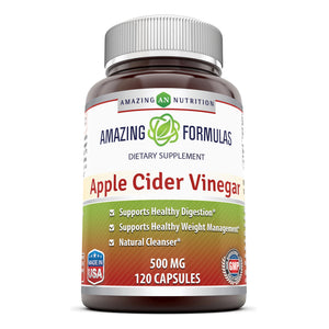 Amazing Formulas Apple Cider Vinegar 500 Mg 120 Capsules - Amazing Nutrition