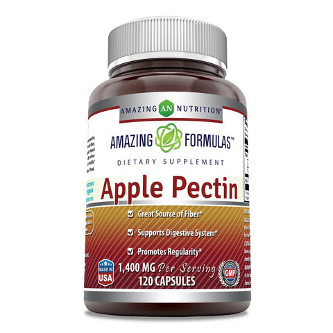 Image of Amazing Formulas Apple Pectin 1400 Mg 120 Capsules - Amazing Nutrition