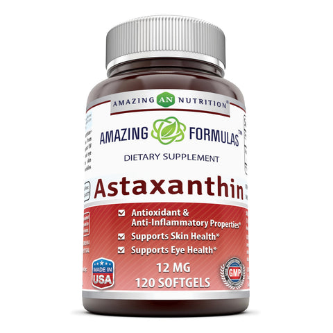 Image of Amazing Formulas Astaxanthin 12 Mg 120 Softgels - Amazing Nutrition