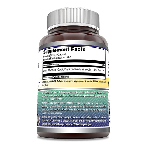 Image of Amazing Formulas Black Cohosh 540 mg 120 Capsules