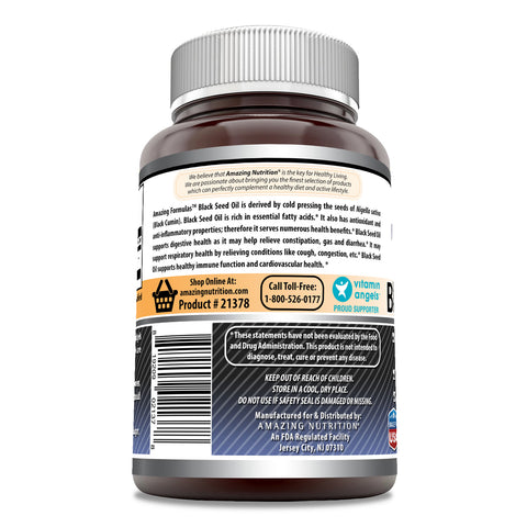 Image of Amazing Formulas Black Seed Oil 1000 Mg Per Serving 100 Softgels