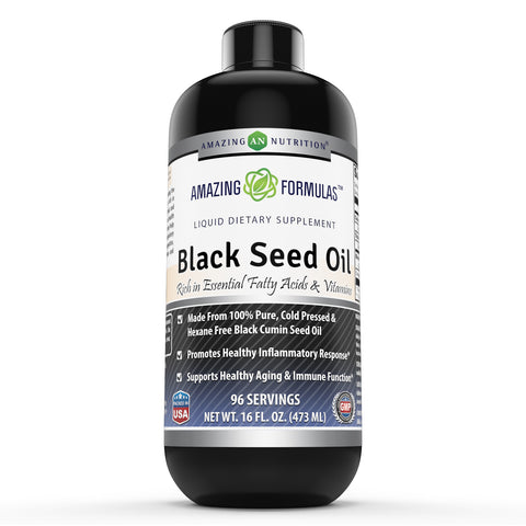 Amazing Formulas Black Seed Oil 16 Oz