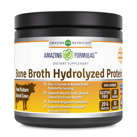 Image of Amazing Formulas Bone Broth Hydrolyzed Protein 15.7 Oz 445 Grams