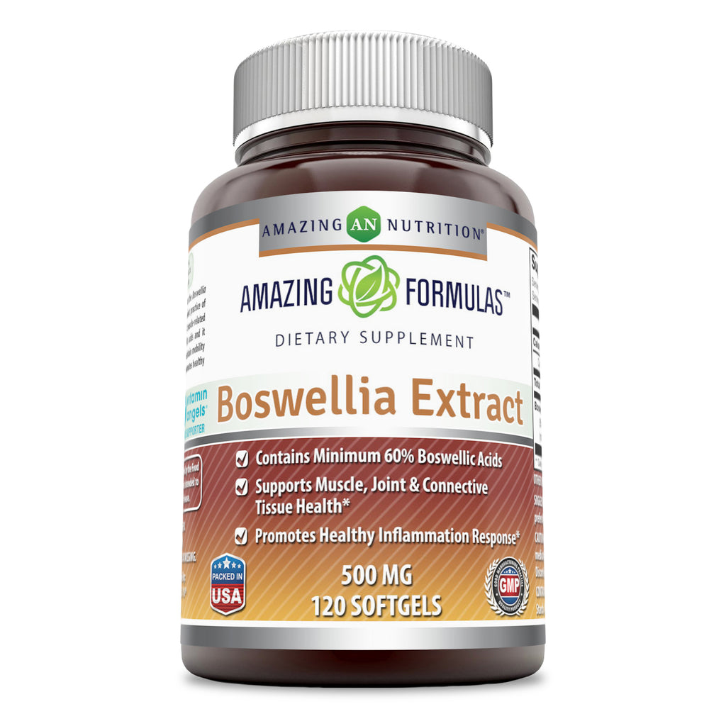Amazing Formulas Boswellia Extract 500 Mg 120 Softgels