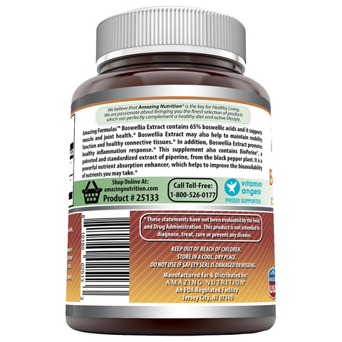 Amazing Formulas Boswellia Extract with BioPerine 600 mg 120 Capsules