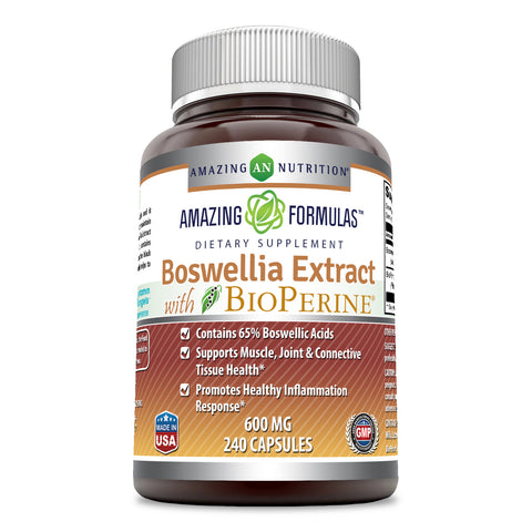Image of Amazing Formulas Boswellia Extract with BioPerine 600 mg 240 Capsules
