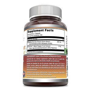 Amazing Formulas Boswellia Extract with BioPerine 600 mg 240 Capsules