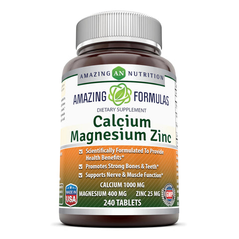 Image of Amazing Formulas Calcium Magnesium Zinc 240 Tablets