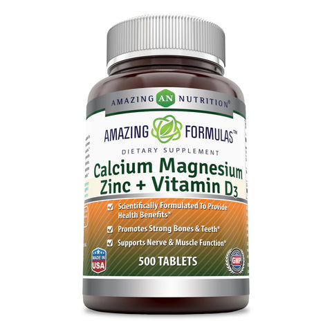 Image of Amazing Formulas Calcium Magnesium Zinc Vitamin D3 500 Tablets