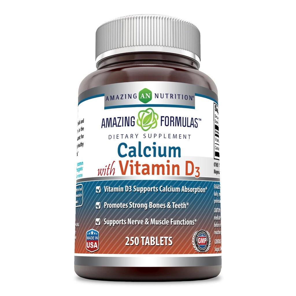 Amazing Formulas Calcium with Vitamins D3 250 Tablets
