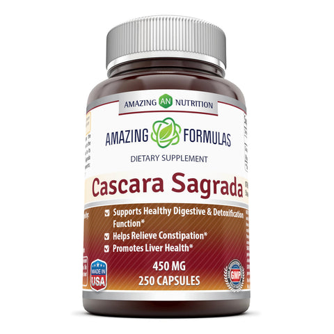 Image of Amazing Formulas Cascara Sagrada 450 Mg 250 Capsules