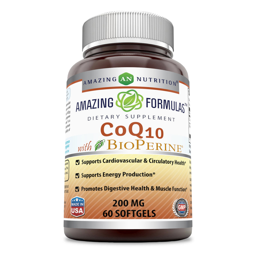 Amazing Formulas CoQ10 200 Mg 60 Softgels