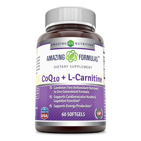 Amazing Formulas Coq10 30 Mg  L  Carnitine 250 Mg 60 Softgels