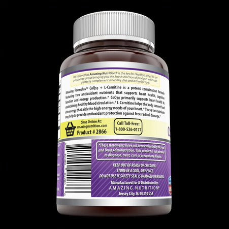 Image of Amazing Formulas Coq10 30 Mg  L  Carnitine 250 Mg 60 Softgels