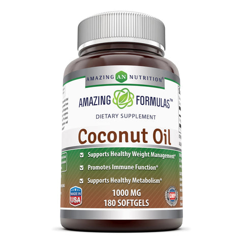 Image of Amazing Formulas Coconut Oil 1000 Mg 180 Softgels