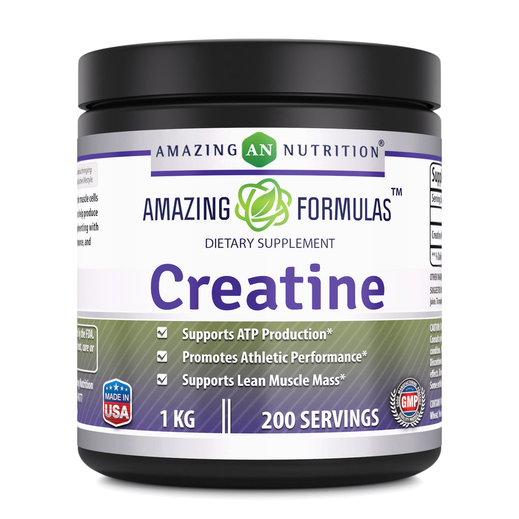 Amazing Formulas Creatine Powder - 1 KG (2.2 Lb), 200 Servings - Supports ATP Production, Promotes Athletic Performance and Supports Lean Muscle Mass