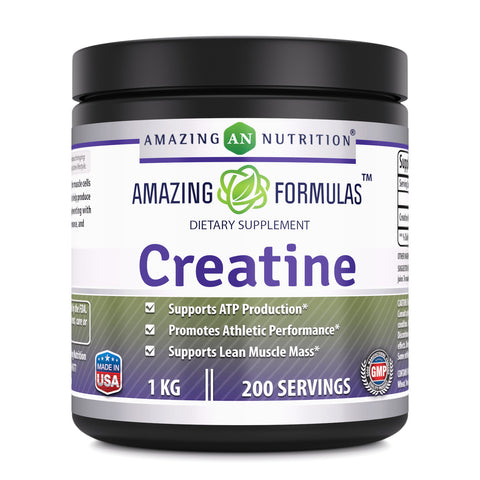 Image of Amazing Formulas Creatine Powder - 1 KG (2.2 Lb), 200 Servings - Supports ATP Production, Promotes Athletic Performance and Supports Lean Muscle Mass