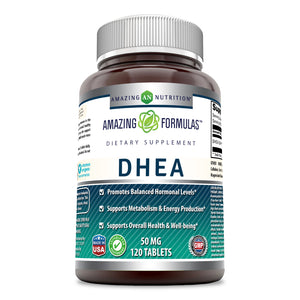 Amazing Formulas DHEA Dietary Supplement 50 mg 120 Tablets
