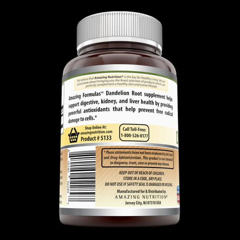 Image of Amazing Formulas Dandelion Root Dietary Supplement 520 mg 120 Capsules