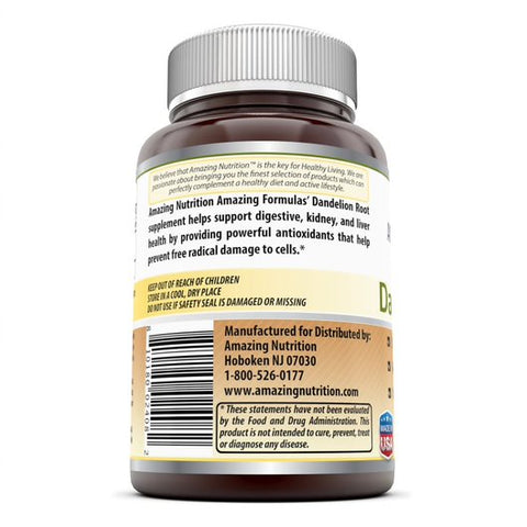 Amazing Formulas Dandelion Root 520 Mg 250 Capsules Promotes A Healthy Liver And Gastrointestinal Health And Promotes Healthier Aging