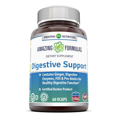 Image of Amazing Formulas Digestive Support 60 Veggie Capsule - Amazing Nutrition