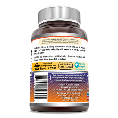 Image of Amazing Formulas Elderberry Complex 120 Chewable Tablets - Full of Vitamin C, Elderberry, Echinacea, Marshmallow Extract and More - Supports a Healthier Immune System