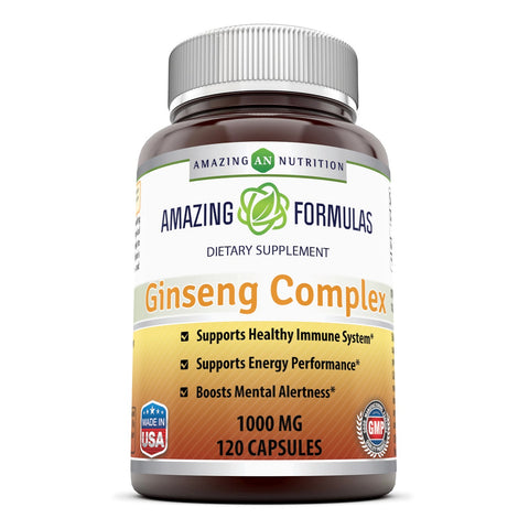 Image of Amazing Formulas Ginseng Complex 1000 Mg 120 Capsules - Amazing Nutrition