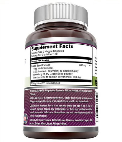 Image of Amazing Formulas Grapeseed Extract 16000 mg Per Serving 240 Veggie Capsules