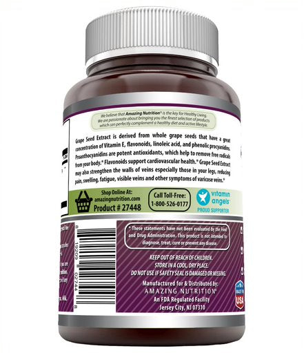 Amazing Formulas Grapeseed Extract 16000 mg Per Serving 240 Veggie Capsules