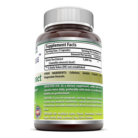 Amazing Formulas Green Tea Extract 500 Mg 250 Capsules