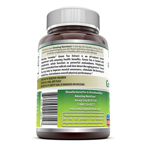Image of Amazing Formulas Green Tea Extract 500 Mg 250 Capsules - Amazing Nutrition