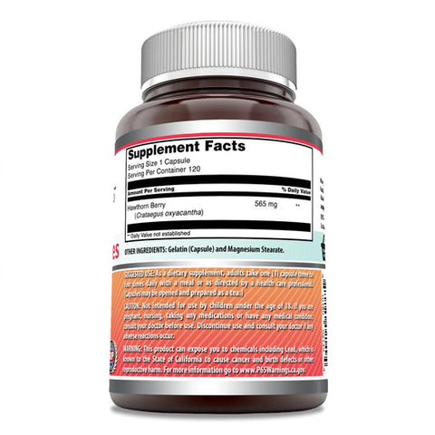 Image of Amazing Formulas Hawthorn Berries 565mg 120 Capsules