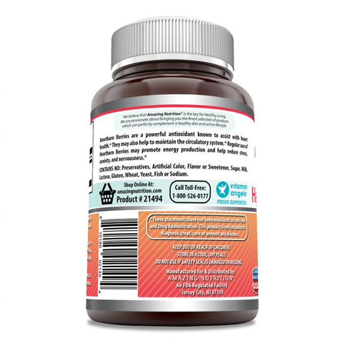 Amazing Formulas Hawthorn Berries 565mg 120 Capsules