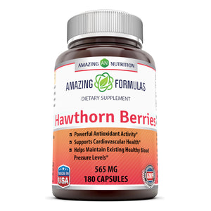 Amazing Formulas Hawthorn Berries 565 Mg 180 Capsules
