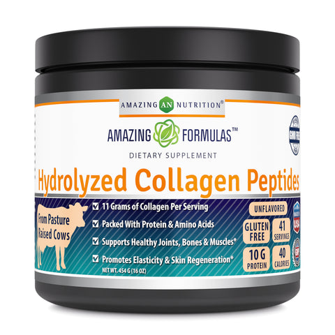 Amazing Formulas Hydrolyzed Collagen Peptides Unflavored 16 oz 454 Grams