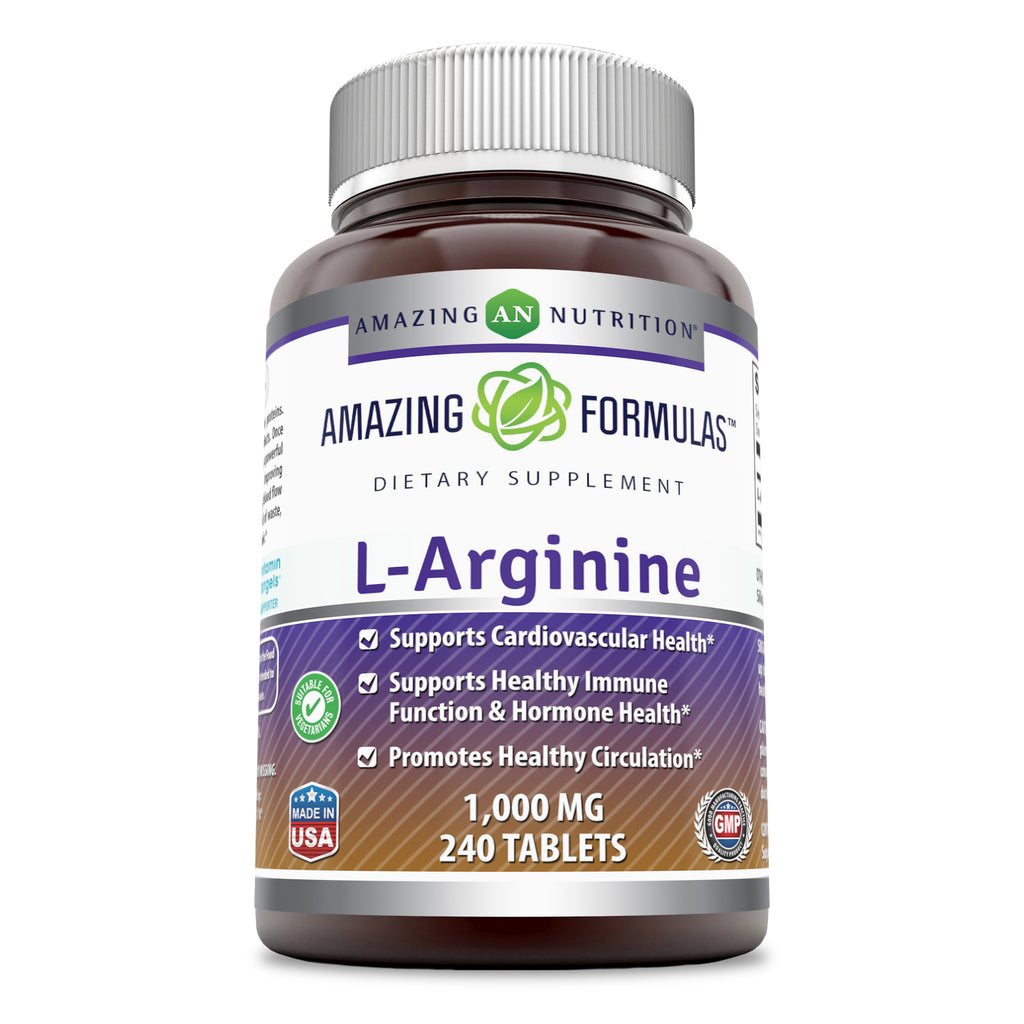 Amazing Formulas L-Arginine 1000 Mg 240 Tablets