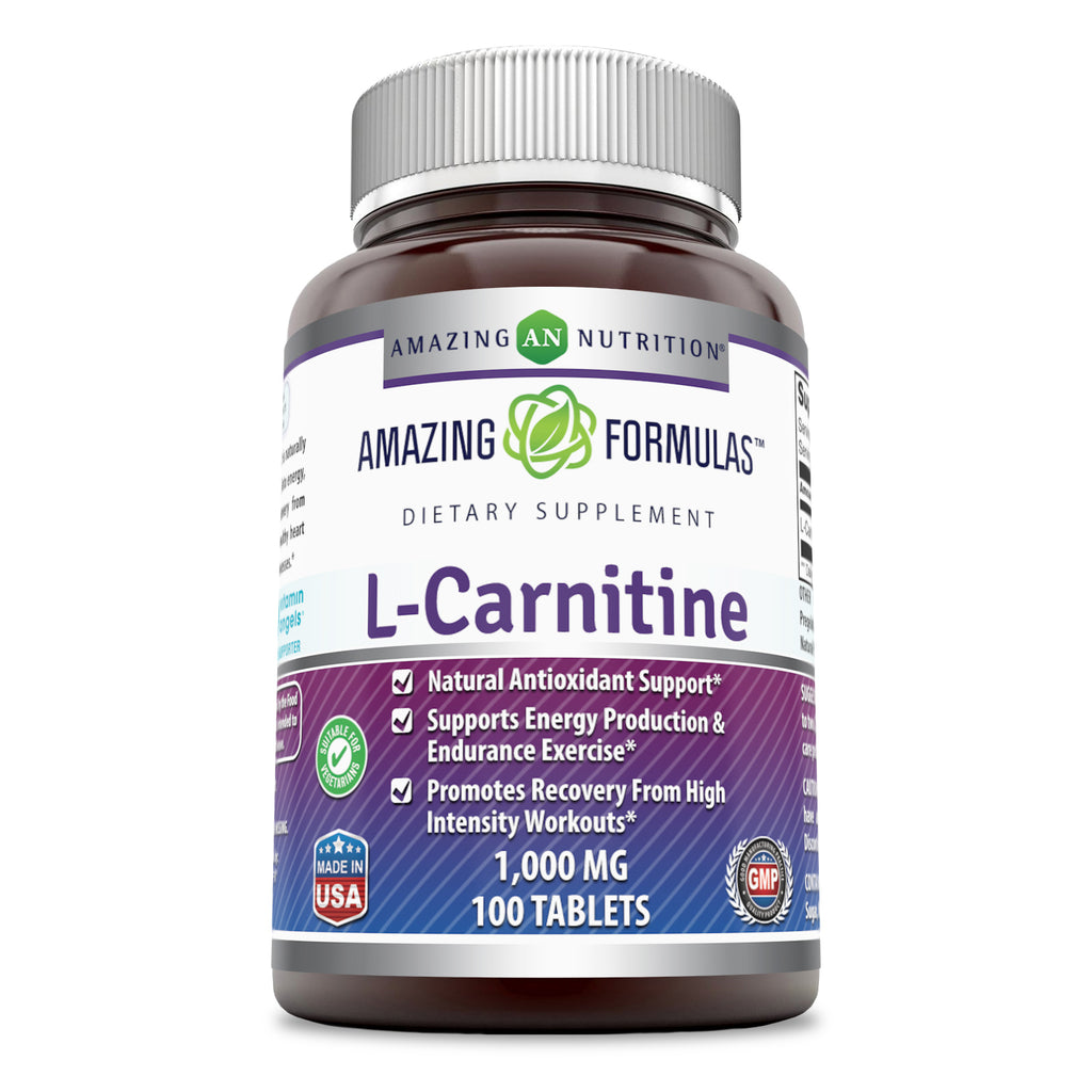 Amazing Formulas L Carnitine 1000 Mg 100 Tablets