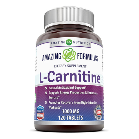 Image of Amazing Formulas L Carnitine 1000 Mg 120 Tablets