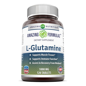 Amazing Formulas L Glutamine 1000 Mg 120 Tablets