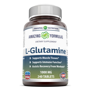 Amazing Formulas L Glutamine 1000 Mg 240 Tablets