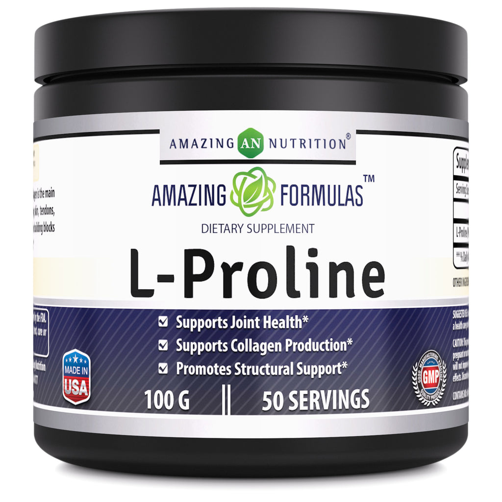 Amazing Formulas L Proline 100 Grams 50 Servings - Amazing Nutrition