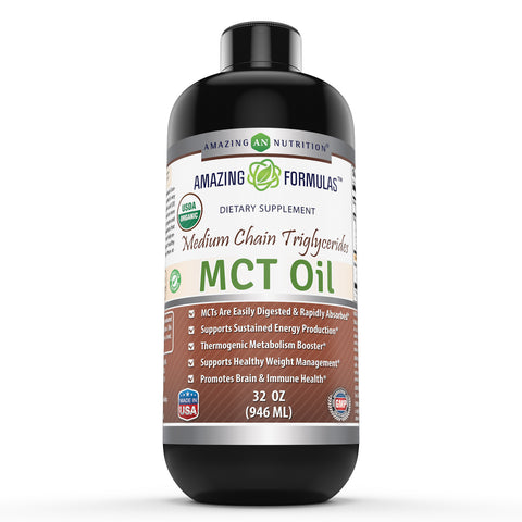 Image of Amazing Formulas Pure MCT Oil 32 Fl Oz - Amazing Nutrition