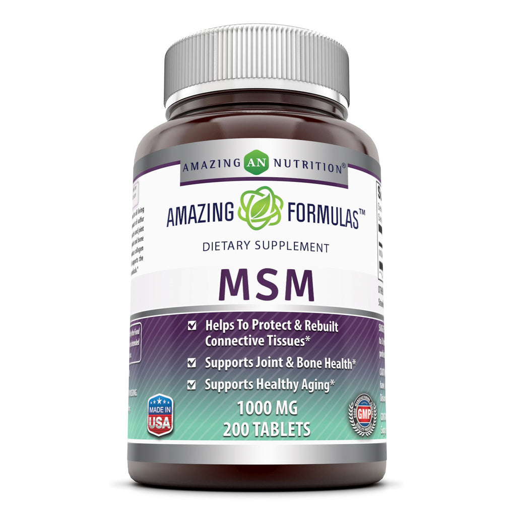 Amazing Formulas MSM 1000 Mg 200 Tablets