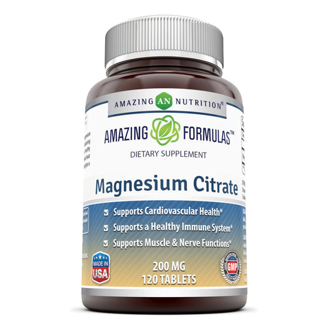 Image of Amazing Formulas Magnesium Citrate 200 Mg 120 Tablets