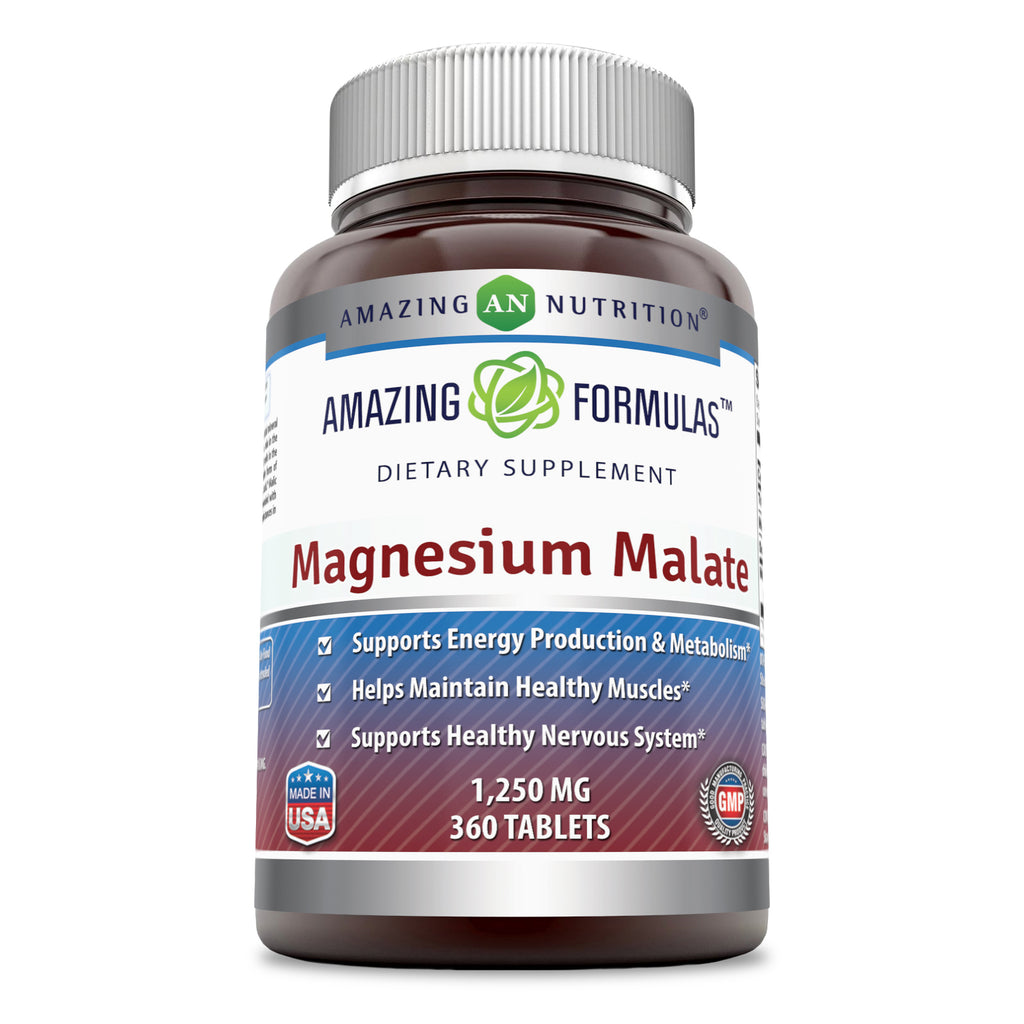 Amazing Formulas Magnesium Malate 1250 Mg 360 Tablets